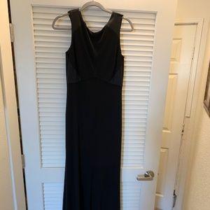 Formal Black Dress with scoop back